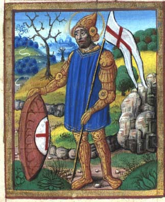 miniature of St. George with a gonfanon